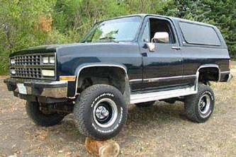 """4"""" Lift Kit, 1/2 Ton, 88-91 Blazer & Suburban"""