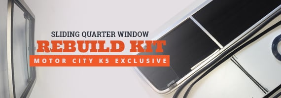 Sliding Quarter Window Rebuild Kit
