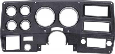 Instrument Cluster Bezel w/A/C, Black/Silver, 75-77 Blazer, Suburban & Pickup