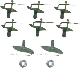 Upper Tailgate Molding Clip Kit, 69-72 Blazer, 67-72 Suburban & Pickup
