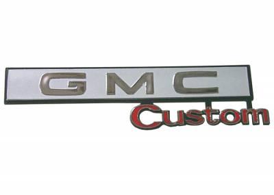 GMC Custom Glove Box Emblem, 69-72 GMC Jimmy, 69-72 Suburban & Pickup