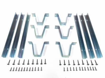 Rear 1/4 Trim Mounting Bracket Set w/Hardware, 69-72 Blazer