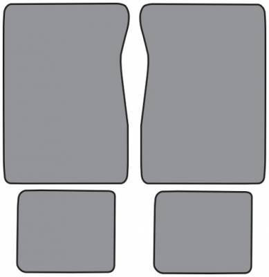Auto Custom Carpets - Front & Rear Floor Mats (4 pc), 73-91 Blazer & Suburban, 73-87 C/K Crew Cab