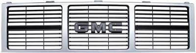 Classic Industries - Grill GMC w/Dual Headlamps, Argent Silver, 85-88 Blazer (Jimmy) & Suburban, 85-87 C/K Pickup