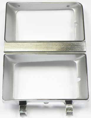 Classic Industries - Headlamp Bezel w/Dual Headlamps, Argent, RH, 81-82 Blazer, Suburban & C/K Pickup