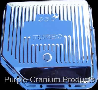 Purple Cranium Products - Chrome Transmission Pan, TH350