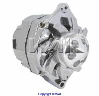 Electrical - Alternators - Motor City Reman - Chrome 100 Amp Bullet Style GM 1 Wire Universal Mount 10-12SI Alternator