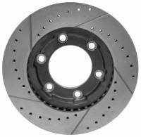 Brakes - Front Brakes - Motown Automotive - Front Performance Brake Rotor, Cross Drilled & Slotted, RH, 4wd, 71-91 Blazer & Suburban, 71-87 K10 Pickup