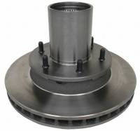 Dana 44 Front - Outer Axle Parts - Motown Automotive - Hub & Rotor Assembly (Each), 4wd, (Federated Silver Brand), 77-91 (Late Design) Blazer & Suburban, 77-87 K10 Pickup
