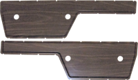 Interior - Door - Door Panel Insert Set, Woodgrain, Plastic, 72 Blazer, Suburban & Pickup
