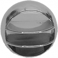 Interior - Dash - A/C Vent Ball, Chrome w/Black Accent, 69-72 Blazer, 67-72 Suburban & Pickup