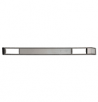 Interior - Dash - Dash Plate w/AC, Black/Silver Brushed Aluminum, 81-91 Blazer & Suburban, 81-87 Pickup