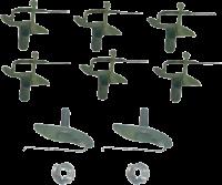 Body - Molding & Trim - Upper Tailgate Molding Clip Kit, 69-72 Blazer, 67-72 Suburban & Pickup