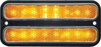 Lighting - Park/Turn Lamps - Classic Industries - LED Front Amber Side Marker Assembly w/Chrome Trim (Each), 69-72 Blazer, Suburban & C/K Pickup