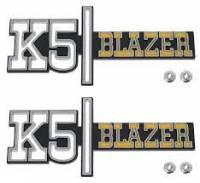 Body - Emblems & Decals - K5 Blazer Emblems (Pair), 73-74 Blazer