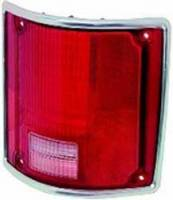 Lighting - Tail Lamps - Classic Industries - Tail Lamp Lens w/Chrome, RH, 73-91 Blazer & Suburban, 73-87 C/K Pickup