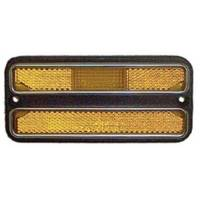 Goodmark Industries - Front Amber Side Marker Assembly w/Chrome Trim (Each), 69-72 Blazer, Suburban & C/K Pickup