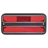 Goodmark Industries - Rear Red Side Marker Assembly w/Chrome Trim (Each), 69-72 Blazer, Suburban & C/K Pickup