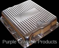 Transmission - TH700-R4 (4L60) Auto - Purple Cranium Products - Polished Aluminum Transmission Pan, TH700-R4